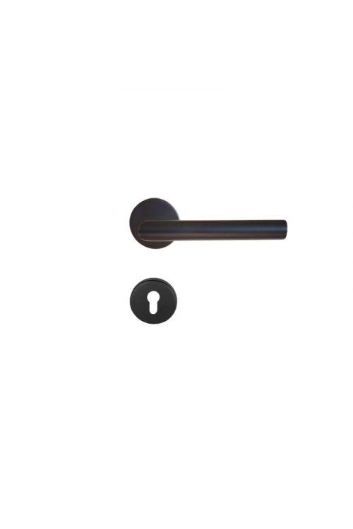 Kljuka za vrata Vovko Roxy, črna (cilinder, nerjavno jeklo, maks. debelina vrat 44 mm)