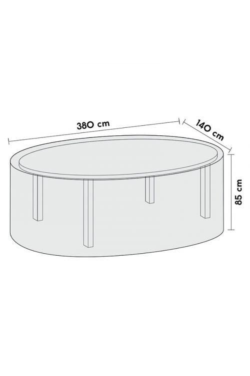 Zaščitna prevleka za vrtne garniture Sensum XL (d 380 x š 140 x v 85 cm, poliester)