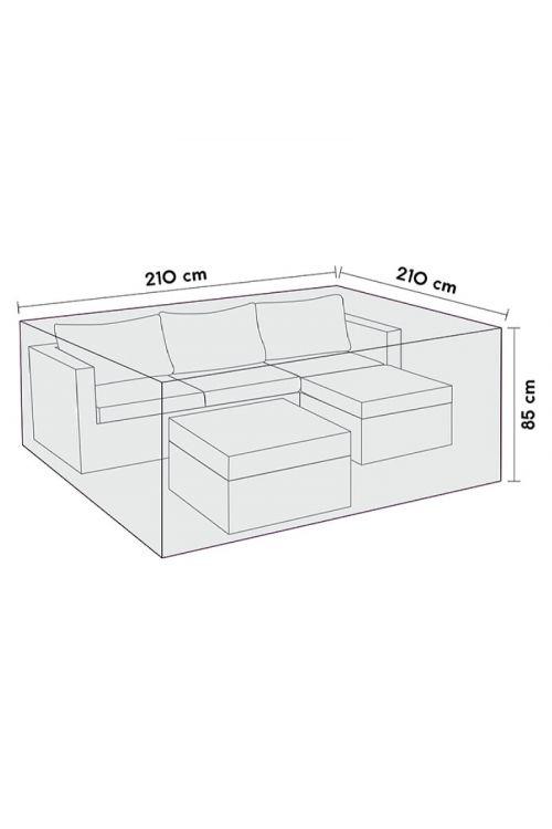 Zaščitna prevleka za lounge sete Sensum (d 210 x š 210 x v 85 cm, poliester)