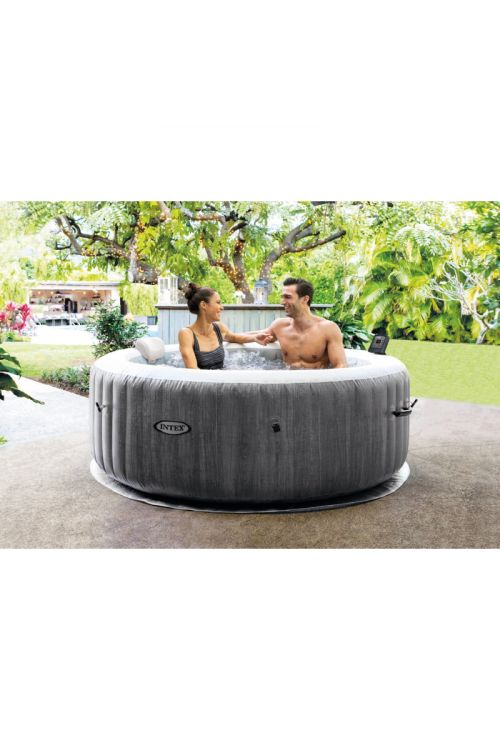 Masažni bazen INTEX Pure Spa Greywood Deluxe (196 x 71 cm, 795 l, za 4 osebe)
