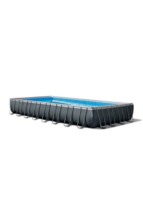 Montažni bazen Intex Ultra frame XTR (d 975 x š 488 x g 132 cm, peščena črpalka 10.000 l/h, lestev, ponjava, podloga)