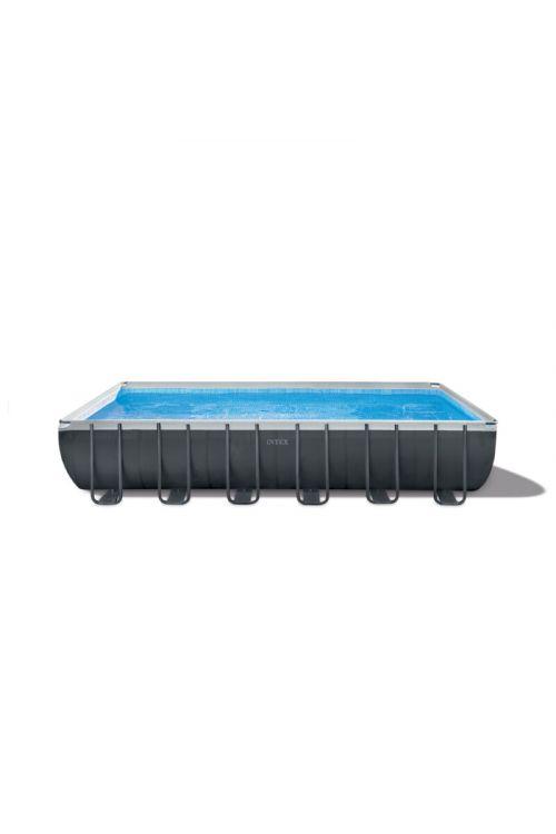 Montažni bazen Intex Ultra frame XTR (d 732 x š 366 x g 122 cm, peščena črpalka 6.000 l/h, lestev, ponjava, podloga)
