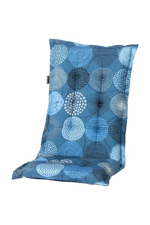 Blazina za stole z visokim naslonom Madison Fantasy Blue (d 123 x š 50 x deb. 6 cm, 50% bombaž, 50% poliester, temno modre barve)