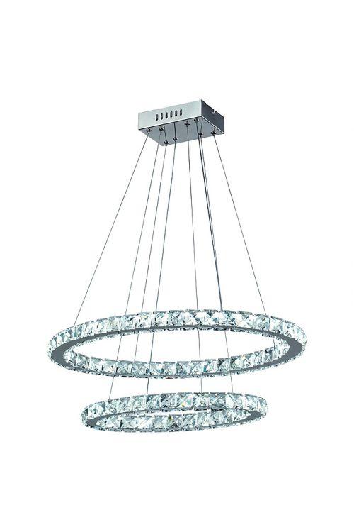 Viseča LED-svetilka Tween Light Crystal (30 W, dnevna bela svetloba, višina: 128 cm, krom, energetski razred: A++ do A)
