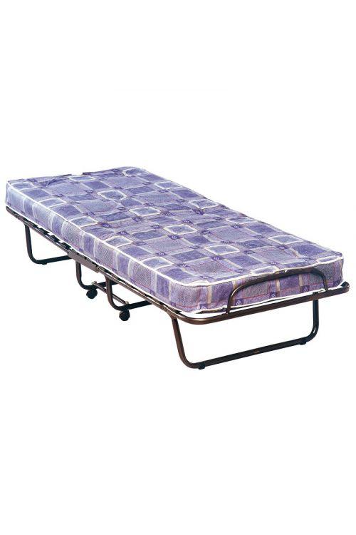 Zložljiva postelja (d 190 x š 180 cm, 13 letvic, blazina deb. 7 cm, s kolesci)