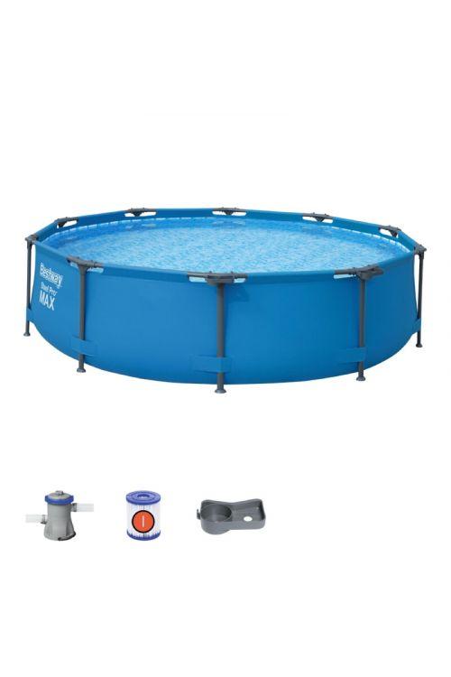 Montažni bazen Bestway Power steel Pro (š 305 x g 76 cm, filtrska črpalka 1.249 l/h)