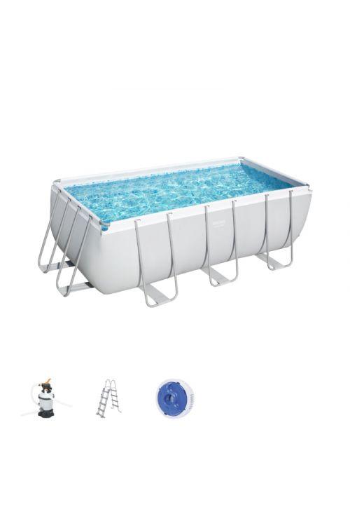 Montažni bazen Bestway Power steel (d 412 x š 201 x g 122 cm, filtrska črpalka 3.028 l/h, lestev)