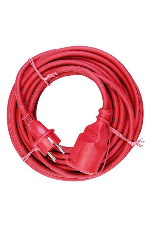 Električni podaljšek Voltomat (10 m, rdeč, IP44, H05RR-F3G 1,5)