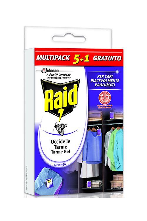 Gel proti tekstilnim moljem Raid (6 kosov, sivka)