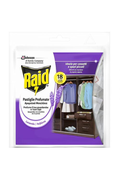 Tablete proti tekstilnim moljem raid (18 kosov, sivka)