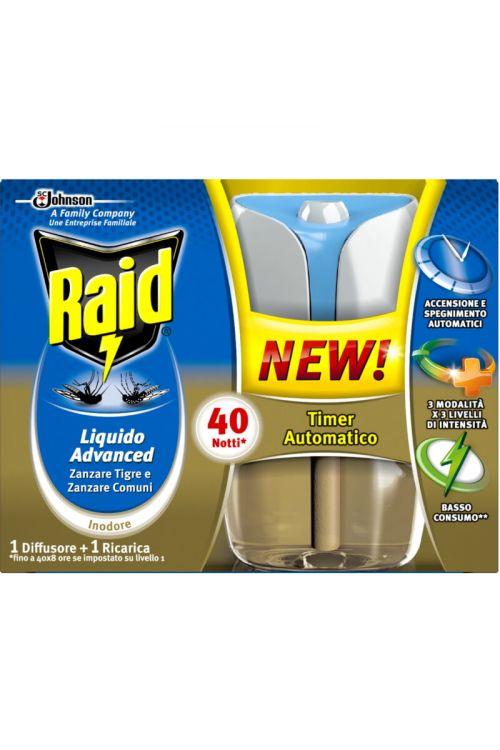 Električni aparat in polnilo Raid Advanced (33 ml, s tekočim insekticidom)