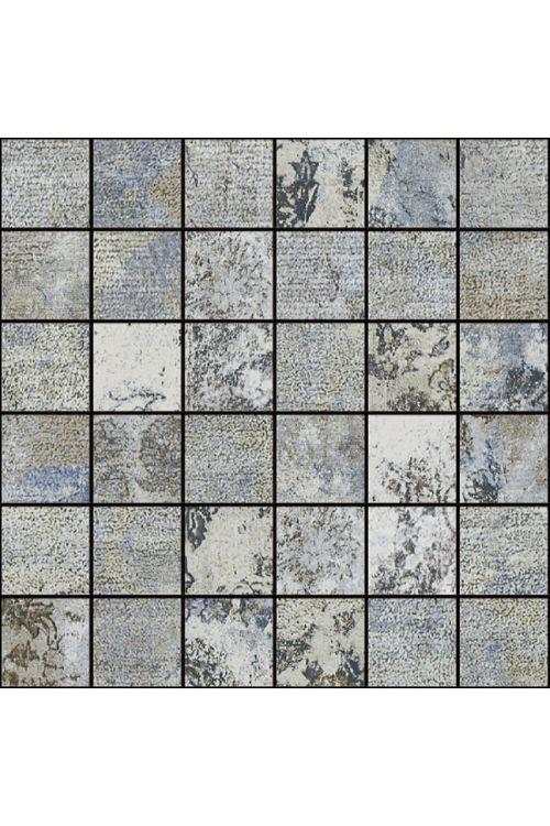 Mozaik ploščica Bagdad (29,75 x 29,75 cm, siva, glazirana, R9)