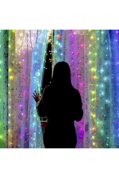 LED svetlobna zavesa Twinkly Curtain (210 pametnih LED diod, RGB+W)