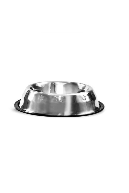Kovinska posoda za pse (z gumo, 23 cm, 0.7 l)