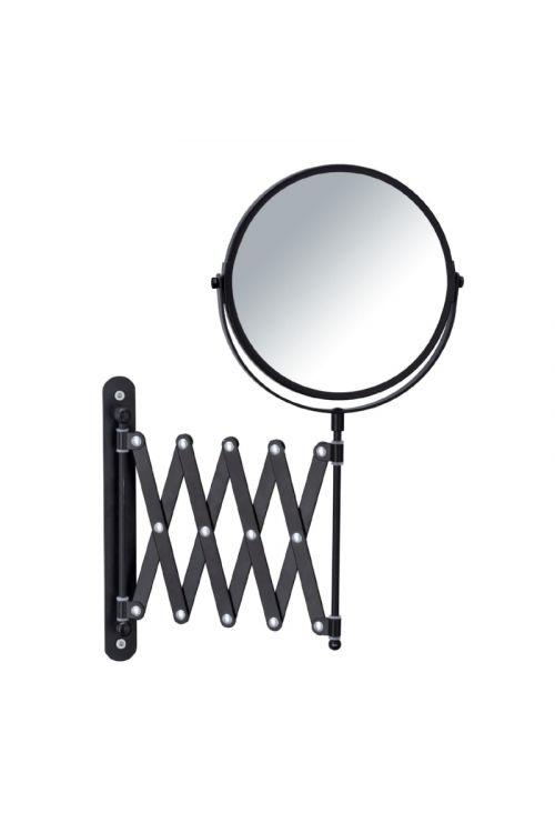 Kozmetično ogledalo Wenko Vanity (črno, 3x povečava, premer: 16 cm)