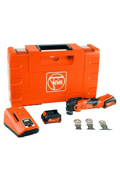 Akumulatorsko večnamensko orodje Fein MultiMaster AMM 300 Plus Start (12 V, 2 x Li-ion baterija 3 Ah, 11.500–18.000 vrt./min)