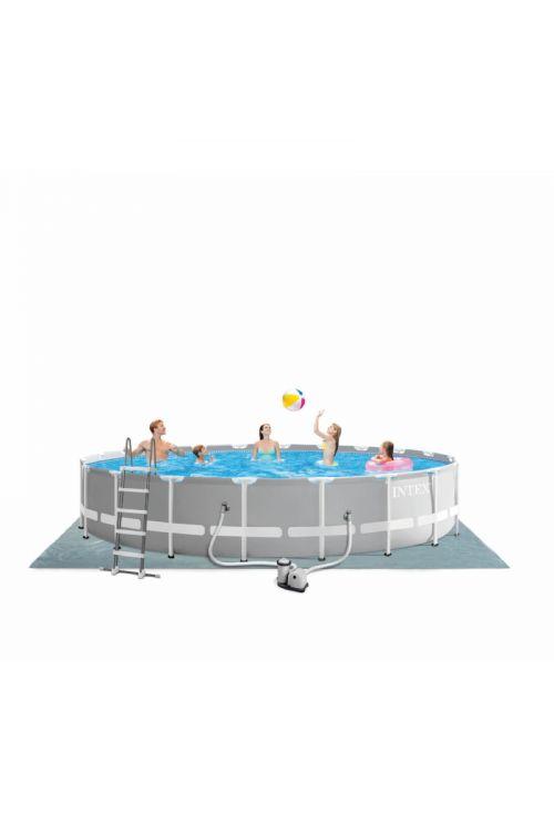 Montažni bazen INTEX Prism Frame (premer 610 x v 132 cm, filter 5.678 l/h, z lestvijo, zaščitno podlogo in ponjavo)