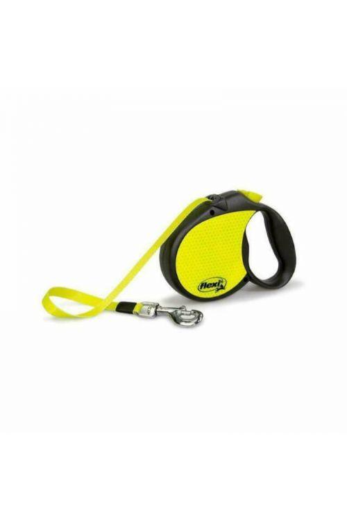 Povodec za pse Flexi M (5 m, za pse do 20 kg, rumeno-črn)