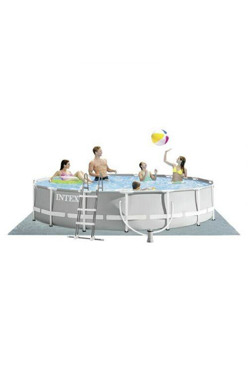 Montažni bazen INTEX Prism Frame (premer 457 x v 107 cm, filter 3.785 l/h, z lestvijo, zaščitno podlogo in ponjavo)
