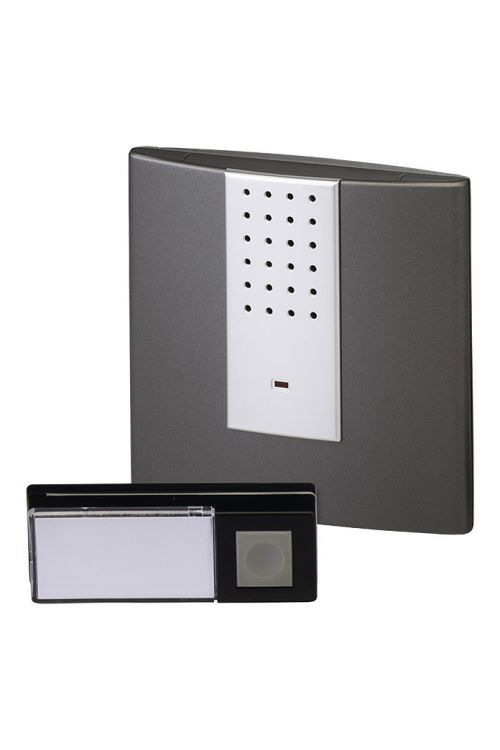 Set brezžičnih zvoncev Heidemann HX Square (domet: 200 m, 70–90 dB, IP55, delovanje na baterije)