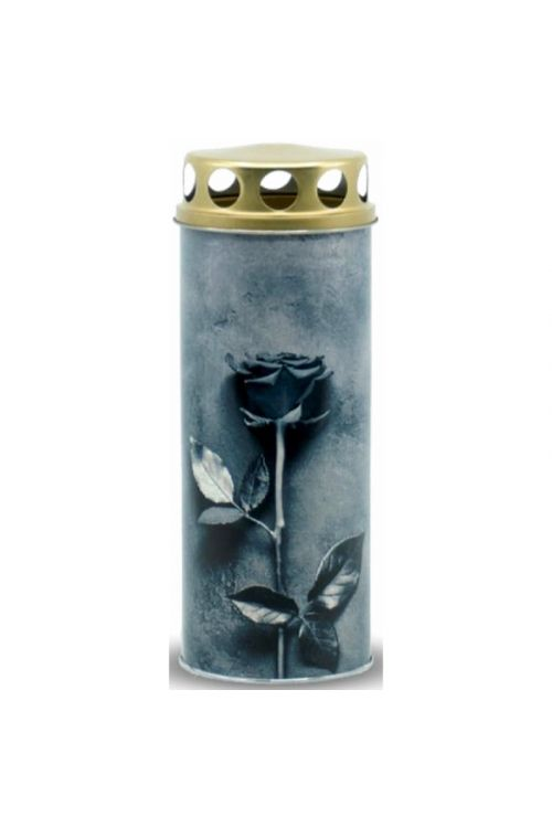 Papirnata ekološka sveča EKOVITA (siva vrtnica, S)