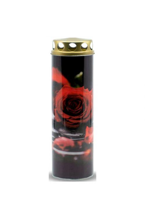 Papirnata ekološka sveča EKOVITA (rdeča vrtnica, M)
