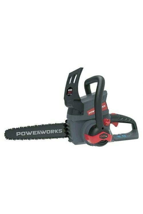 Akumulatorska verižna žaga Powerworks Dual Voltage P24CS25 (24 V, Li-Ion, dolžina meča: 25 cm, brez baterije in polnilnika)