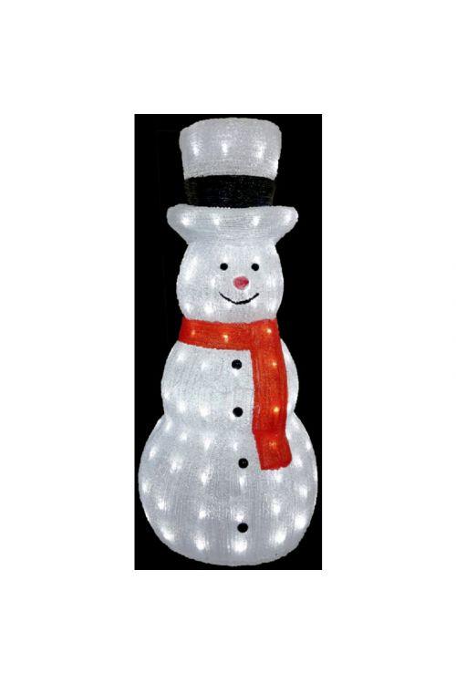 LED snežak, akrilni 3D (160 LED, 80 cm)