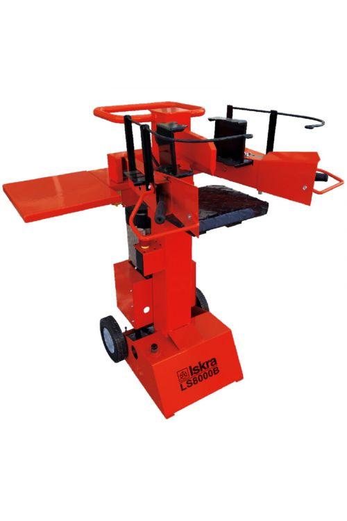 Električni cepilnik drv Iskra LS8000B (3.000 W, moč cepljenja: 8 t, dolžina obdelovanca: do 50 cm)