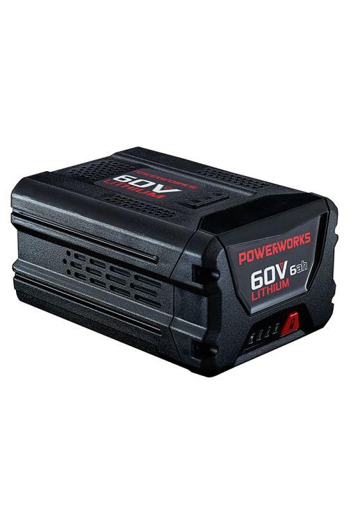 Baterija POWERWORKS P60B6  (60 V, 6 Ah, čas polnjenja 150 min)