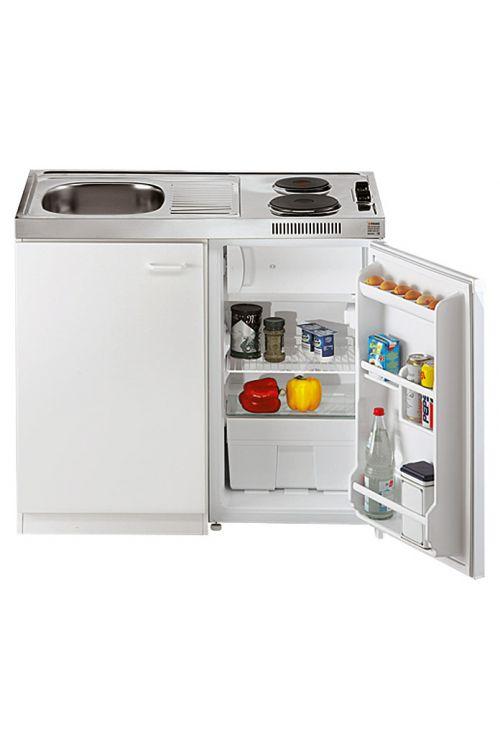 Mini kuhinja Respekta Pantry 100 (100 cm, kuhalna plošča in hladilnik, bela)
