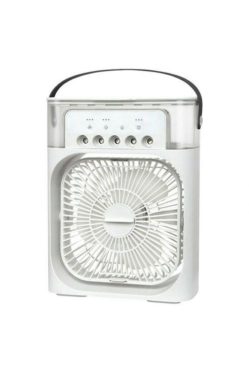Namizni ventilator in vlažilnik zraka Proklima (USB 2.0, 9 x 21 x 26 cm, bel)