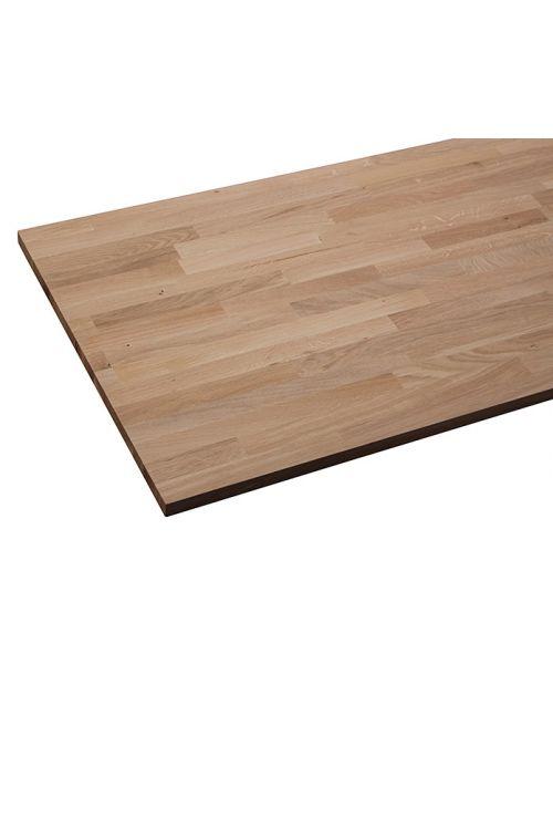 Delovna plošča Exclusivholz (2.600 x 635 x 27 mm, C/C, bukev, masivna)