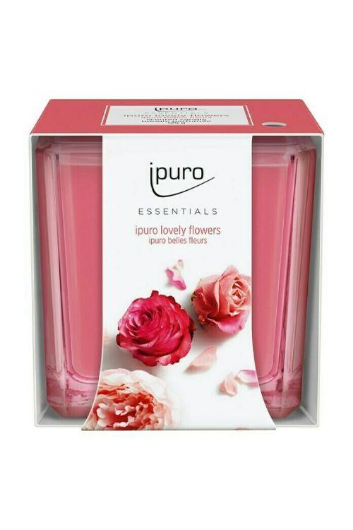 Dišeča sveča Ipuro ESSENTIALS Lovely Flowers (125 g)