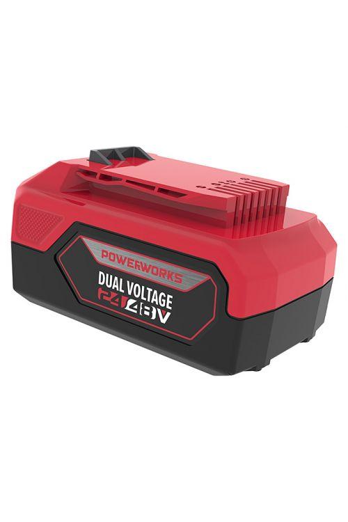 Baterija POWERWORKS Dual Power P60B6  (2 Ah, za vse 24/48 V Powerworks naprave, čas polnjenja 120 min, prikaz napolnjenosti)