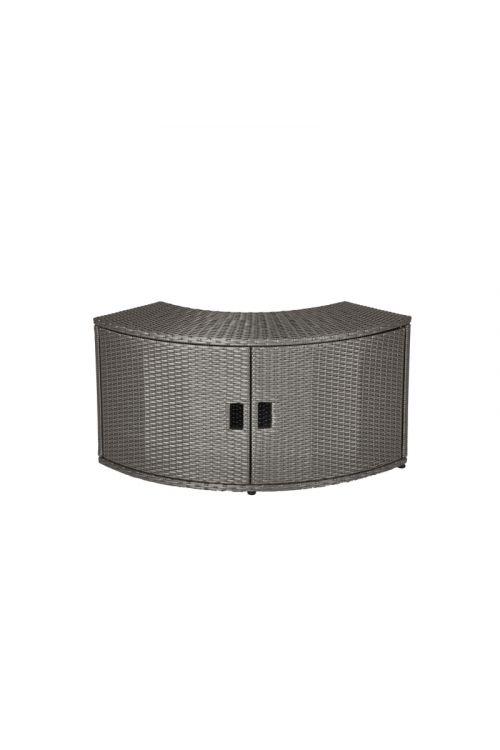 Omarica za okrogli masažni bazen MSpa (60 x 30 x 57 cm, umetni ratan)