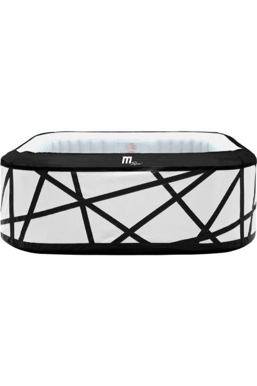 Masažni bazen MSpa Premium Series Soho (d 185 x š 185 x v 68 cm, za 6 oseb, 132 masažnih šob, črpalka 1.420 l/h, moč ogrevanja 1,5 kW)
