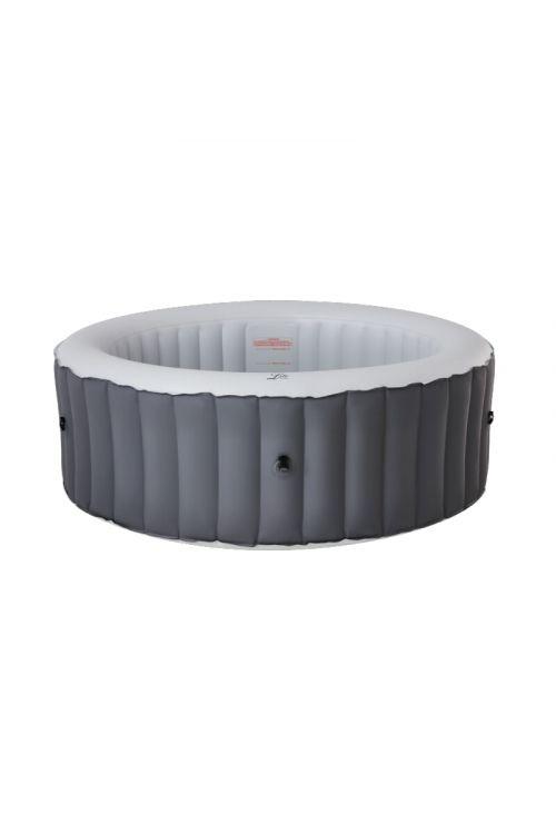 Masažni bazen MSpa Lite (š 204 x v 70 cm, za 6 oseb, 138 masažnih šob, črpalka 1.325 l/h, moč ogrevanja 1,5 kW, siv)
