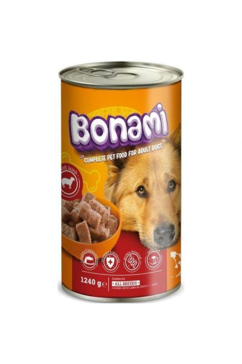 Hrana za pse v konzervi Bonami (1,24 kg, jagnjetina)