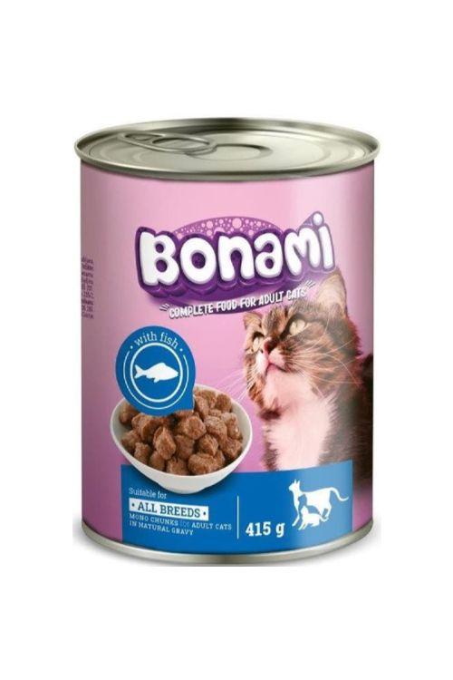 Hrana za mačke v konzervi Bonami (415 g, riba)