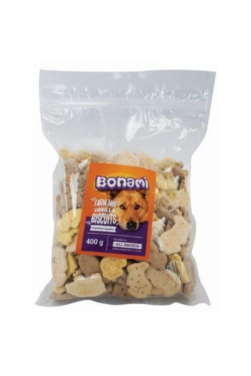 Piškoti za pse Bonami Farm Mix Vanillia (400 g)