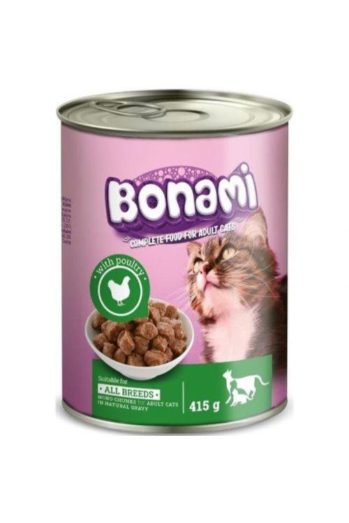Hrana za mačke v konzervi Bonami (415 g, perutnina)