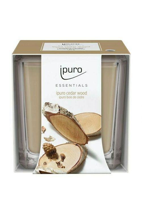 Dišeča sveča Ipuro ESSENTIALS Cedar Wood (125 g)