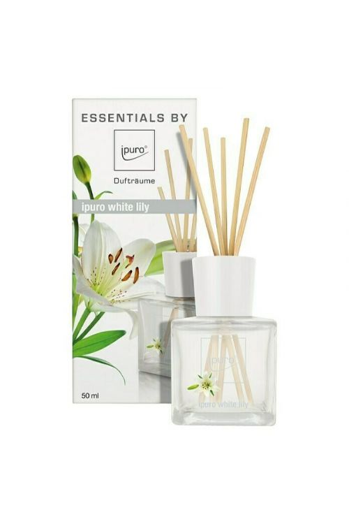 Dišava za prostor Ipuro ESSENTIALS White Lily (50 ml)