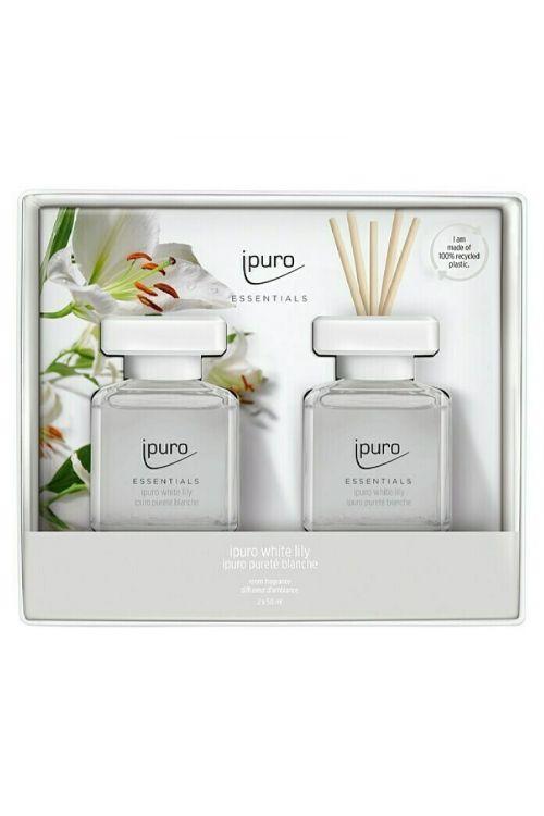 Dišava za prostor Ipuro ESSENTIALS White Lily (2 x 50 ml)