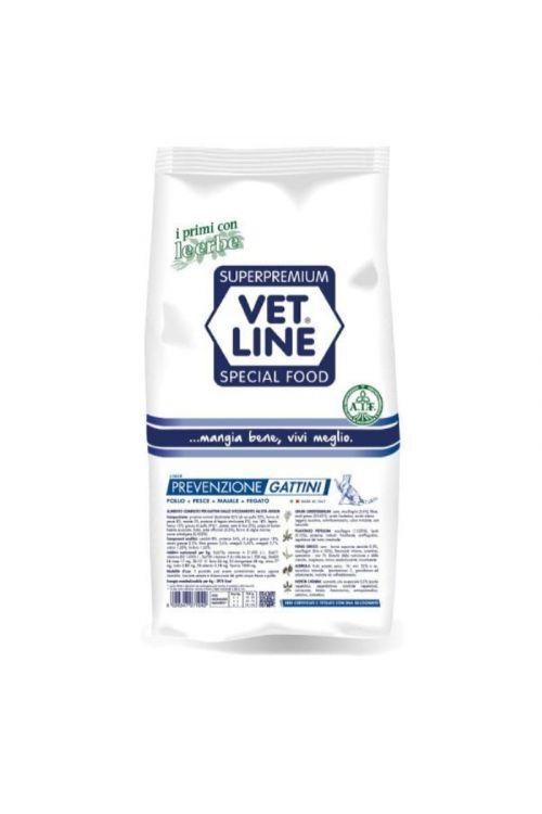 Briketi za mačke Vet Line (400 g, piščanec in riba)
