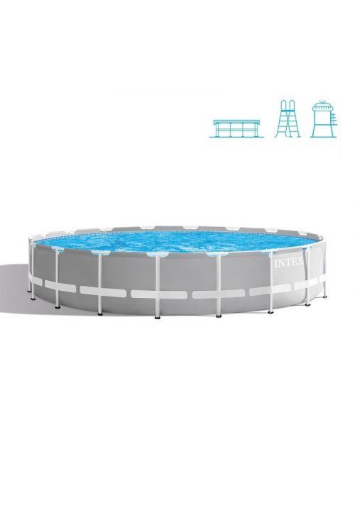Montažni bazen Intex Prism Frame (Ø x v: 549 x 122 cm, filtrska črpalka: 4.400 l/h, lestev, talna podloga, pokrivalo)