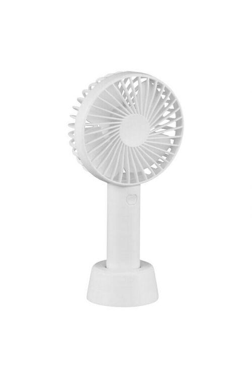 Ročni ventilator Windy (USB, premer: 11 cm, višina: 22 cm, bele barve)