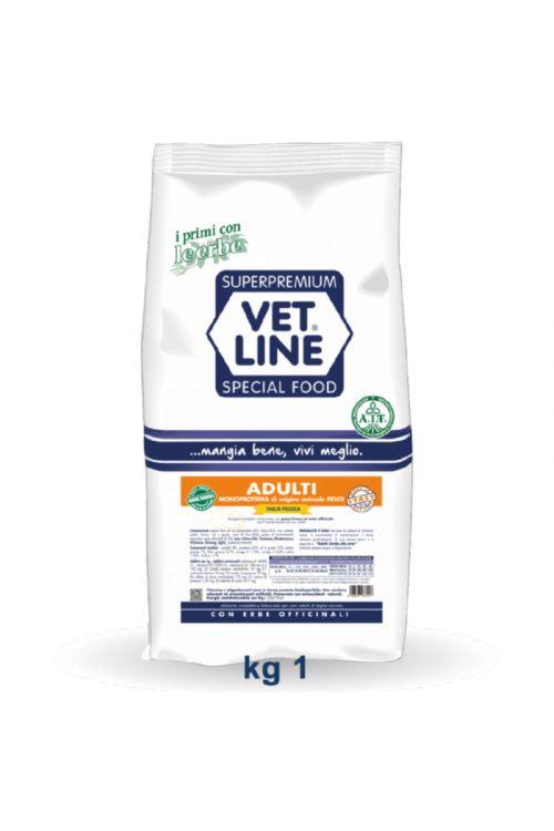 Briketi za pse Vet Line (1 kg, riba)