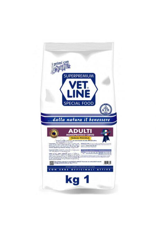 Briketi za pse Vet Line (1 kg, divjačina)